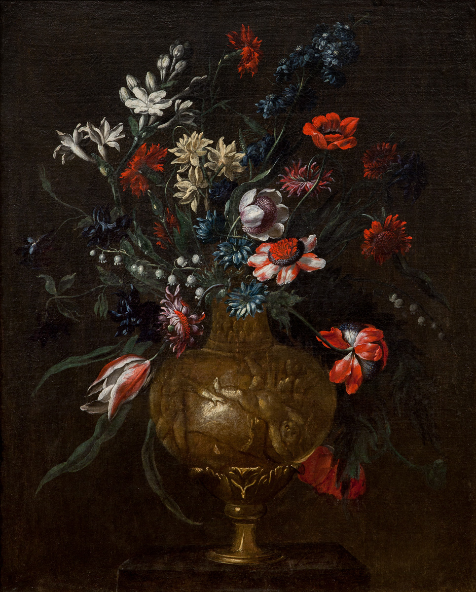 Francesco Mantovano (Mantova 1618 approx. – Venice 1663?): 'Flower Pot'
