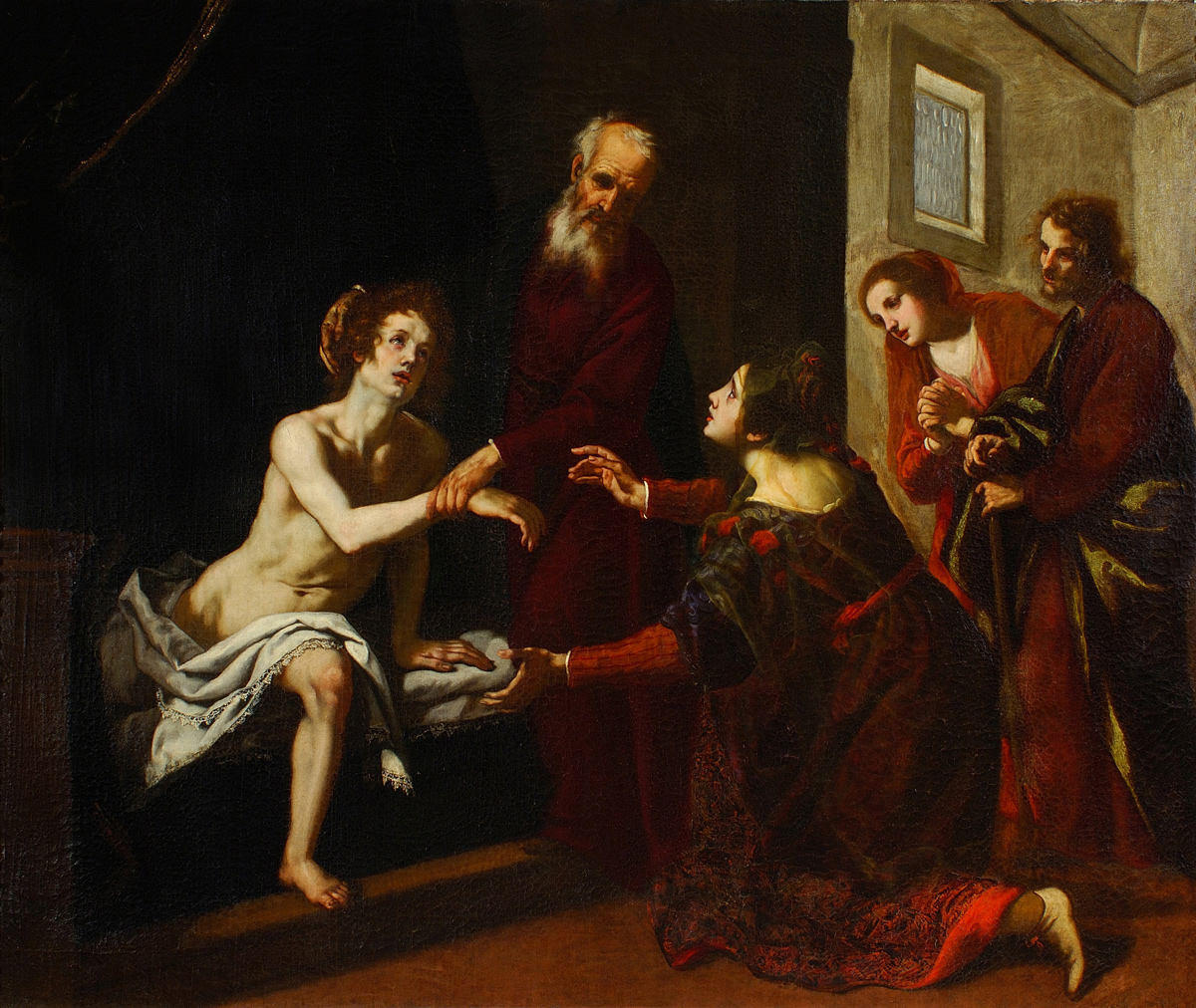 Jacopo Vignali (Arezzo 1592 – Florence 1664): 'Elisha's Resurrection of the Shunammite Woman's Son'