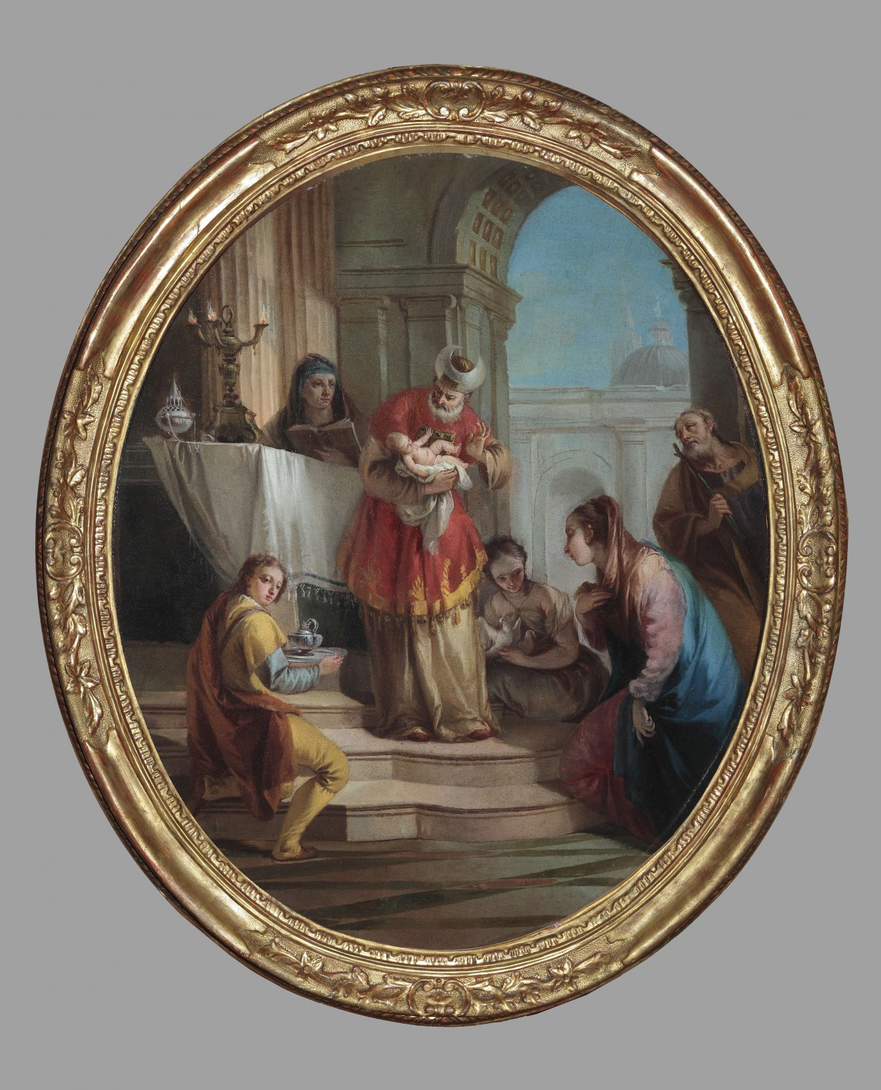 Francesco Zugno (Venice 1709 – 1787): 'Presentation of Jesus Christ at the Temple'