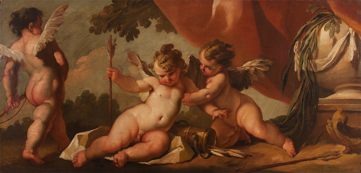 Giambattista Crosato (Venice 1697 – 1756): 'Cupids Playing'